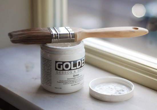 Acrylic gesso. Photo by Will Kemp.