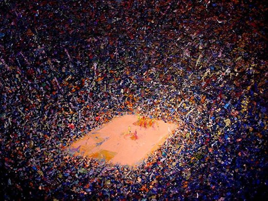 Game 7 (Just Like Nike series) by Tafa, oil on canvas, 56 x 68.