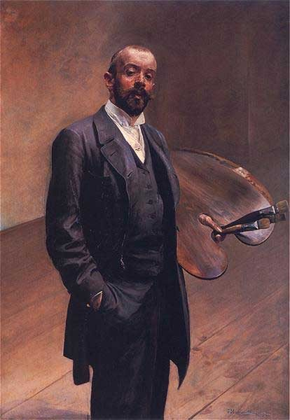 Self-Portrait by Jacek Malczewski, oil on canvas, 1892.