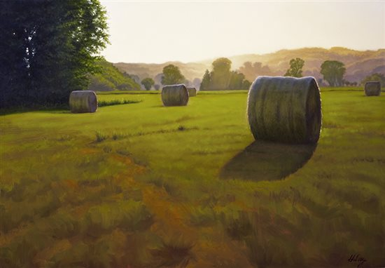 Summer Brome II, 30 x 40 inches, John Hulsey, oil painting