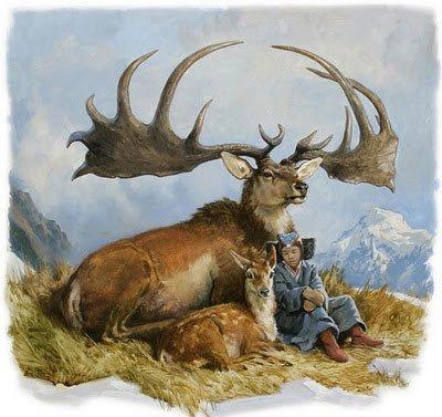 Irish Elk by James Gurney, fantasy painting