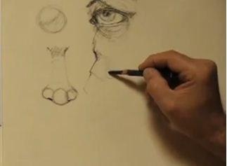 Robert Stollar, drawing facial features