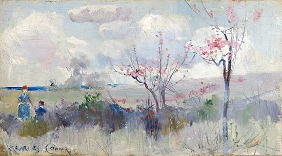 Herricks Blossoms by Charles Conder, ca 1889, landscape painting.