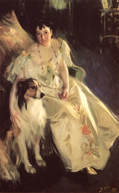 Portrait of Mrs. Bacon by Anders Zorn, 1897, oil painting.