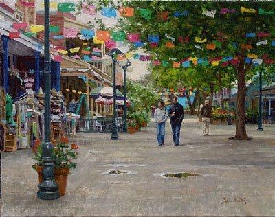El Mercado by Mark Haworth, 2006, oil painting, 16 x 20.