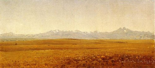 Long's Peak, Colorado by Sanford Gifford, oil on canvas with pencil, 1870.
