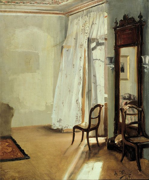 The Balcony Room by Adolph Menzel, oil on canvas, 1845.