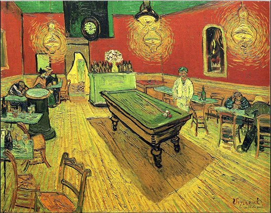 The Night Cafe by Vincent van Gogh, 1888.