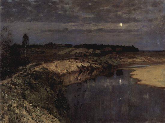 Silence by Isaac Levitan, 1898.