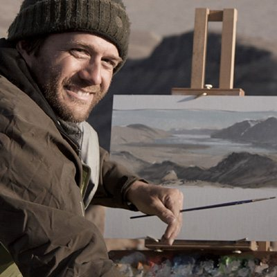 repanier plans to create a collection of 50 fine art oil paintings based on his Arctic plein air paintings.