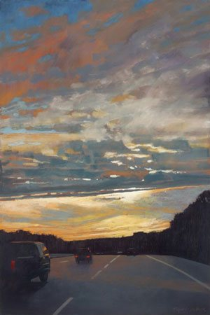 Roadtrip by Liz Haywood-Sullivan, pastel painting, 36 x 24. Adapted from an article by Christopher Willard.
