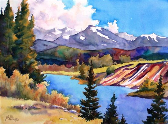 Watercolor Painting By Sharon Lynn Williams