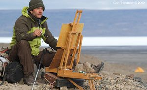 Cory planned to create some 50 fine art oil paintings of the Arctic.