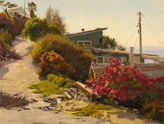 Morning Light Crystal Cove, by Joe Paquet, oil painting on linen.