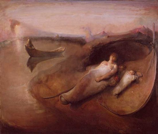 Early Morning by Odd Nerdrum, oil on canvas.