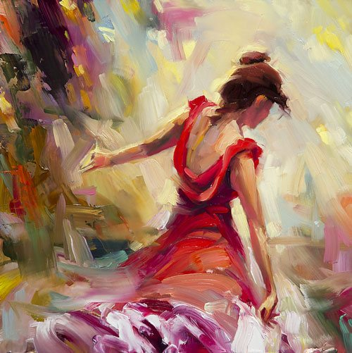 Art pays off in happiness dividends. Instantly, a fine art painting or any other kind of art provides color, depth, and emotion to our life. Dancer by Steve Henderson of Steve Henderson Fine Art.