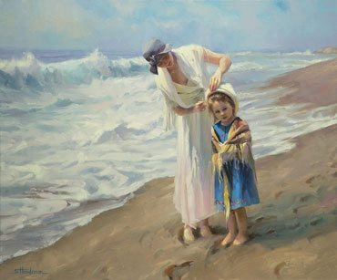 Sometimes, you just need a little guidance to straighten out your thoughts, or your hat. Beachside Diversions by Steve Henderson.