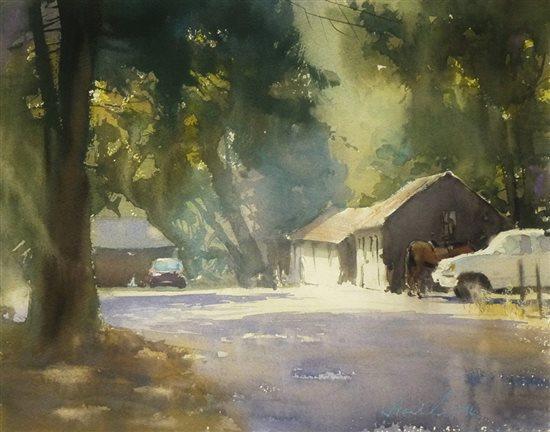 Lost Arrow Road, Yosemite by Frank Eber, watercolor painting.