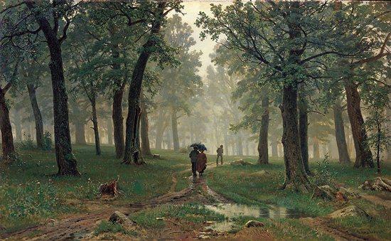 Rain in an Oak Forest by Ivan Shishkin, 1891.
