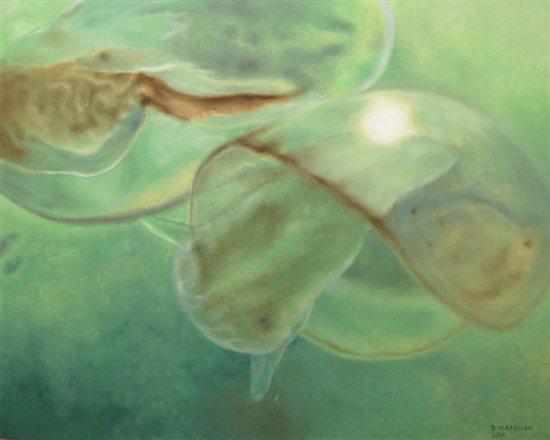 Microbiota #1, 2011, oil on canvas, 24 x 30.