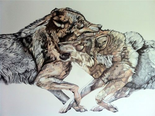 Untitled by Linday Carron, ballpoint pen drawing.