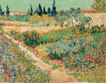 Garden with Path by Vincent van Gogh, oil painting.