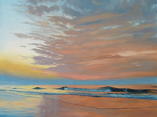 Ocean II by John Hulsey, 30 x 40, oil painting