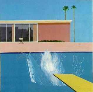 A Bigger Splash by David Hockney, 1967, acrylic painting.