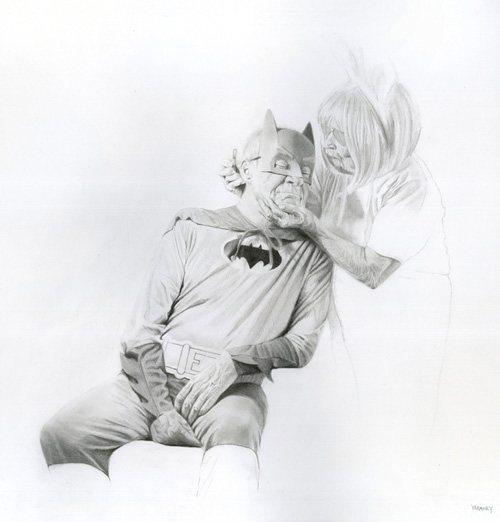 Kinder Love by Jason Bard Yarmosky, graphite drawing, 18 x 24.