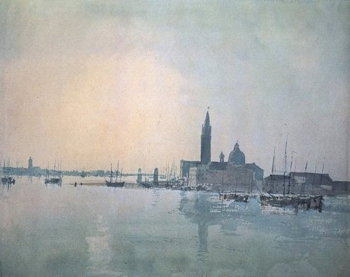 San Giorgio Maggiore at Dawn by J.M.W. Turner, watercolor painting, 1819.