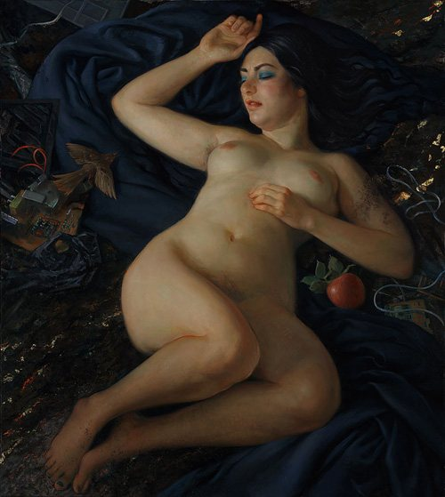 Venus Awakes by Patricia Watwood, 2011, oil on canvas, 38 x 34.