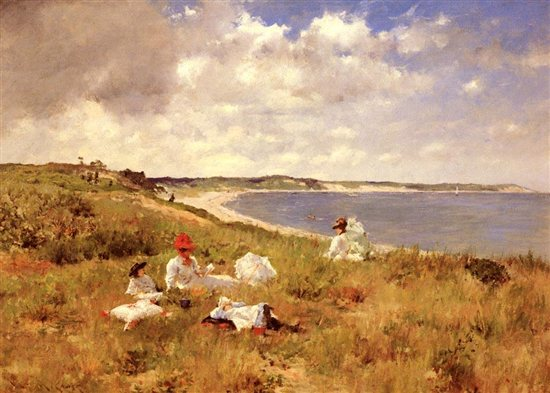 Idle Hours by William Merritt Chase, 1894, oil painting.