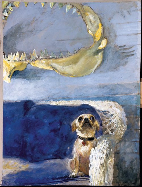 The Dog, and the Great White Shark Jaw by Jamie Wyeth.