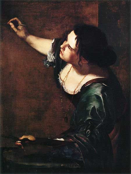 Self-Portrait as the Allegory of Painting by Artemisia Gentileschi, oil on canvas, circa 1630.