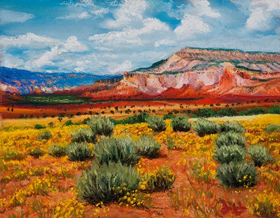 Plein air painting, Ghost Ranch, by John Hulsey