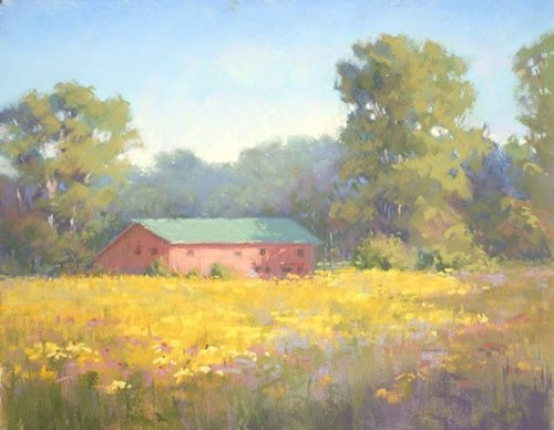 Avalon Barn by Jane McGraw-Teubner, pastel painting on pastelbord, 11 x 14.