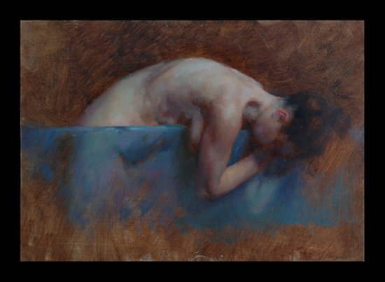Glass Study 3 by Stephen Early, oil painting on masonite, 7 x 5.