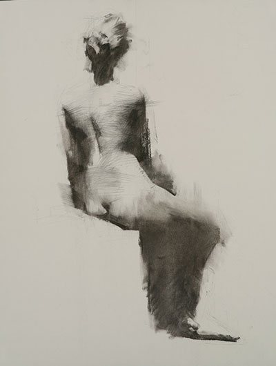 Untitled by Mark Tennant, 2009, charcoal, 24 x 18. Featured in Drawing, Winter 2010.