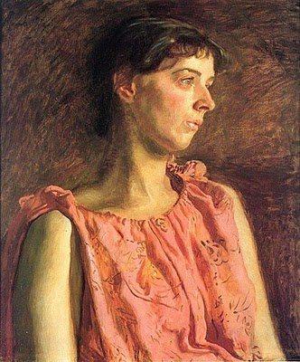 Portrait of Weda Cook by Thomas Eakins, oil painting, 1891.