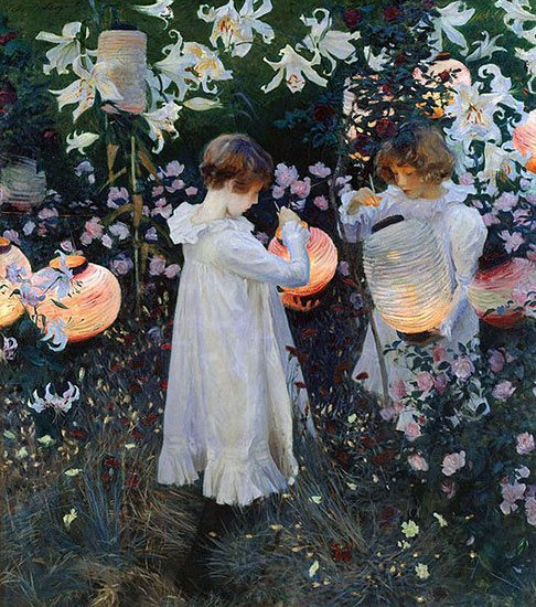 Carnation, Lily, Lily, Rose by John Singer Sargent, 1885-86, oil painting, 68 x 60.