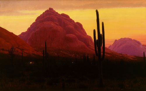 Camelback Twilight by Joseph McGurl, oil on canvas, 22 x 34.