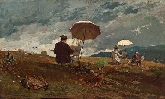 Artists Sketching in the White Mountains by Winslow Homer, 1868.