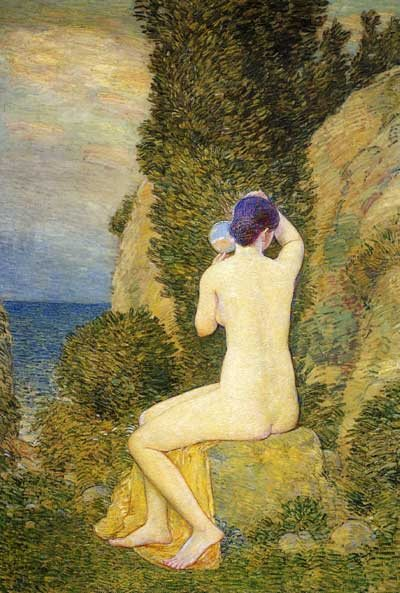 Aphrodite, Appledore by Childe Hassam, oil on canvas, 1908.