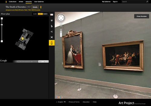 Google Art Project is a great way to explore the oil paintings, drawings, sculptures, and more that are in museums all over the world.