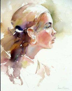 Ariadne by Janet Rogers, watercolor painting.
