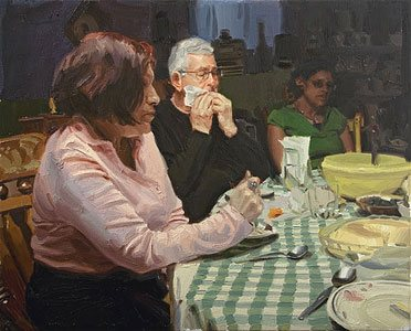 Sunday Guests, 17 x 21, 2009, oil painting.