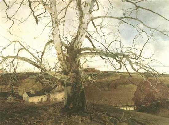 Pennsylvania Landscape by Andrew Wyeth, oil on canvas, 1942.