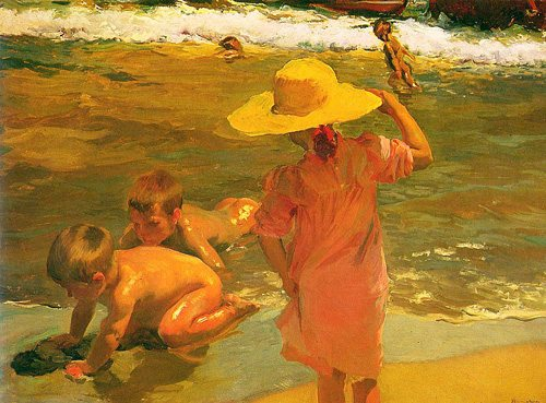 Children on the Seashore by Joaquin Sorolla, oil on canvas, 1903.