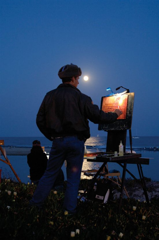 Plein Air Painting - Painting during twilight