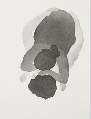 Untitled by Christian Johnson, 2012, charcoal and graphite on paper, 25 x 19.